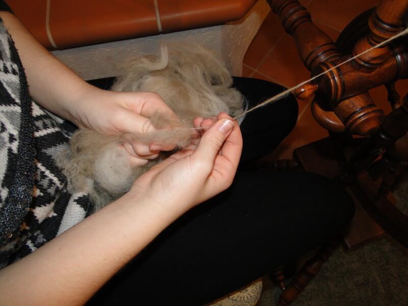 Alpakawolle wird hergestellt